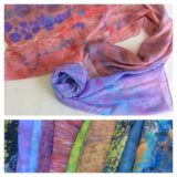 Шелковые шарфы в технике ЭБРУ<br>800-2500 руб.